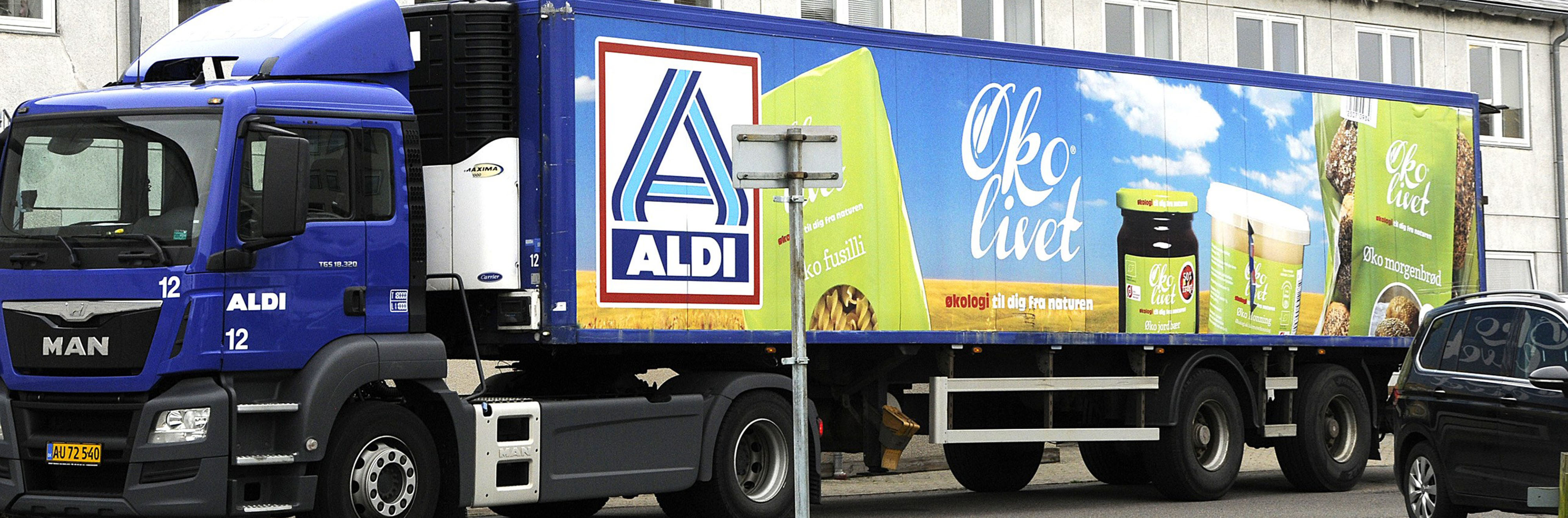 Danish Aldi truck. Illustration