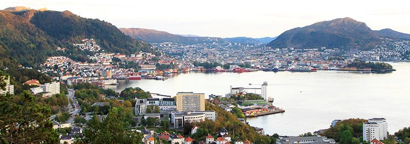 NHH and Bergen seen from the north. Photo: Hallvard Lyssand, NHH