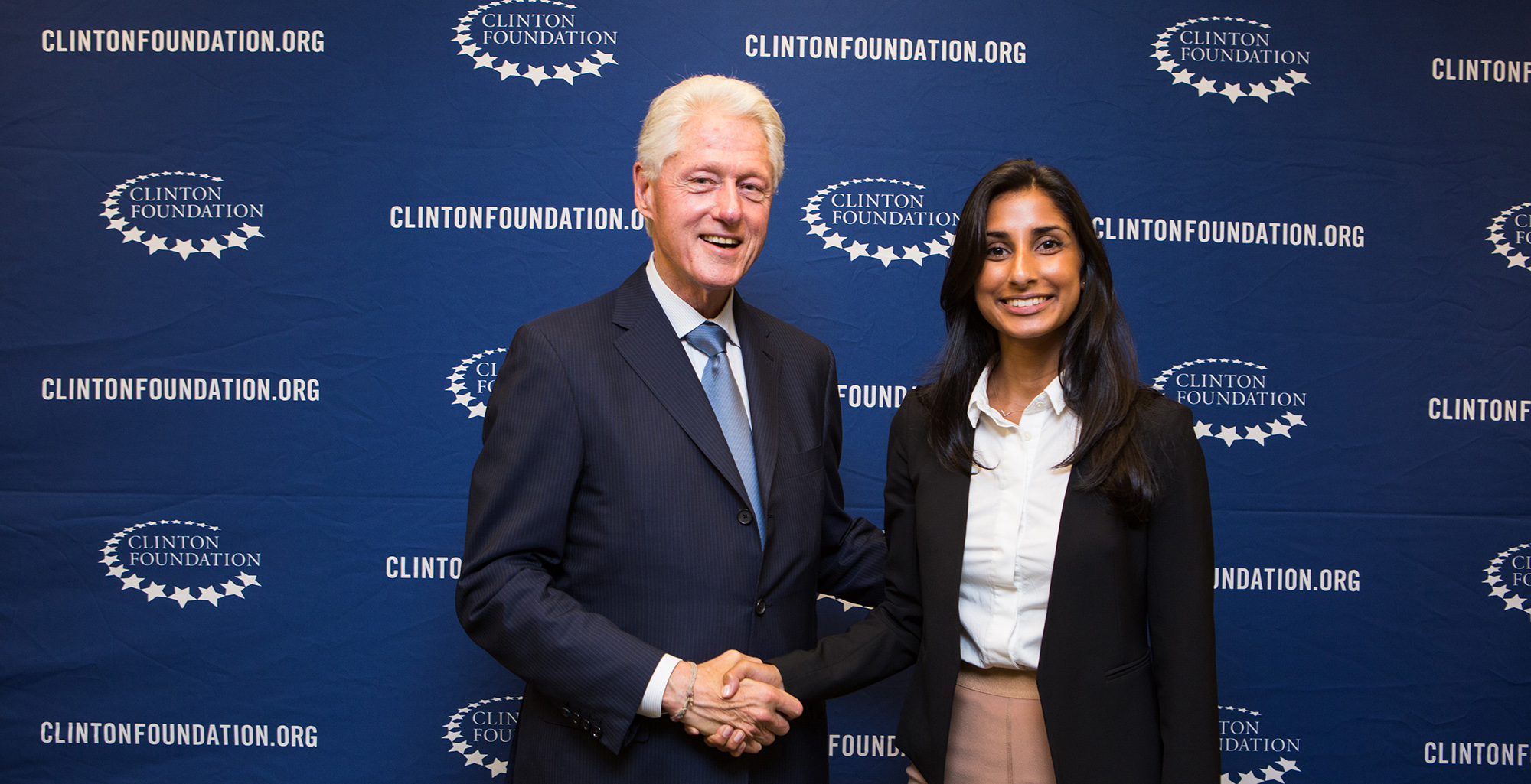 NHH alumna Vaishali Kathuria had an internship at the Clinton Foundation in New York
