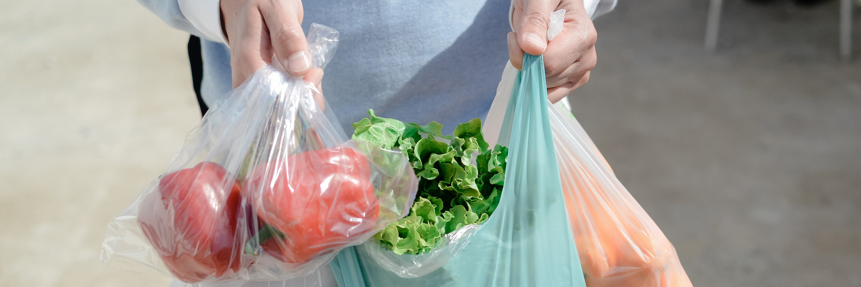 Vegetables in plastic bags. Photo: Arimag/Shutterstock