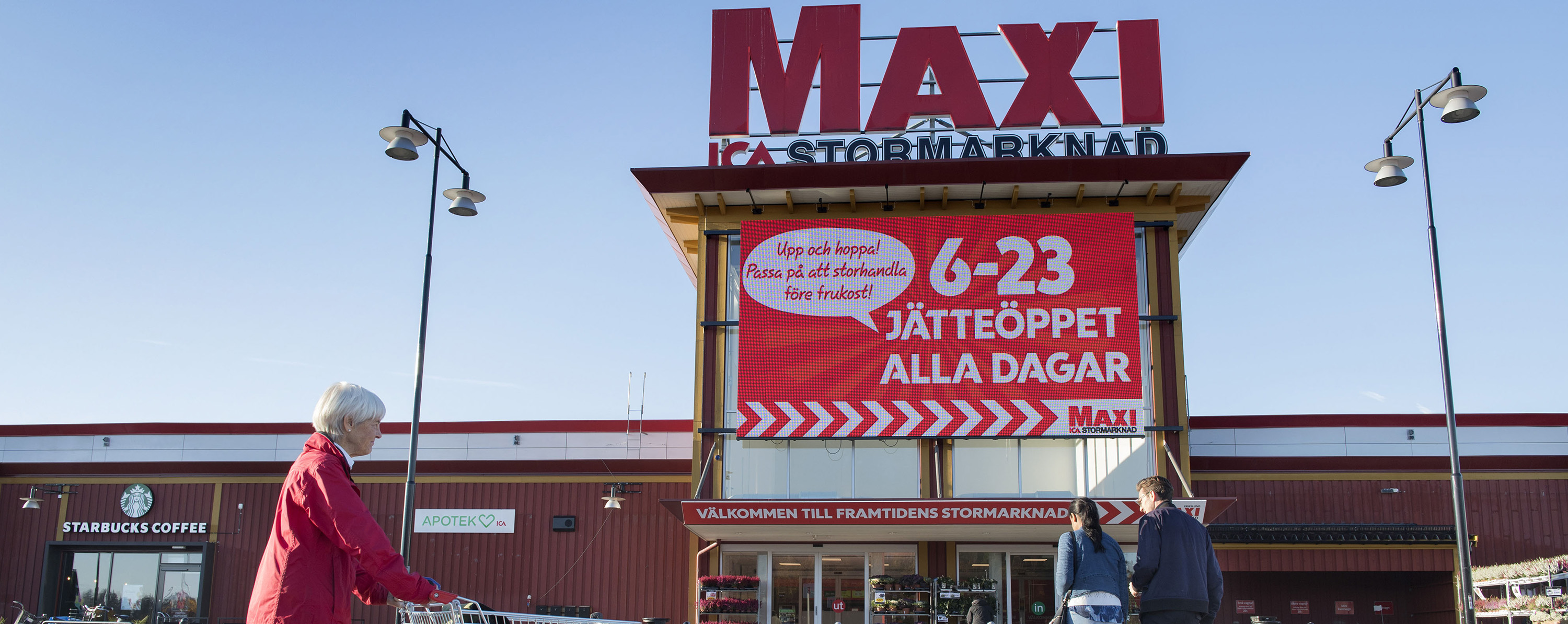 ICA Maxi is the ICA group's hypermarket concept. Photo: Jessica Gow/TT