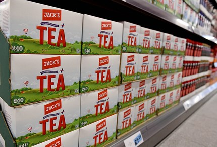 Jack's tea, one of 1800 Jack's branded products in the Jack's stores. Photo: Andrew Parsons