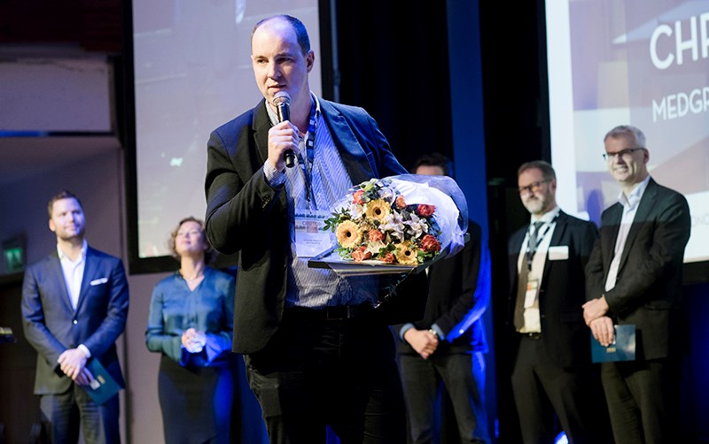 Christoffer Pettersen, Alumni of the year 2018. Photo: Siv Dolmen