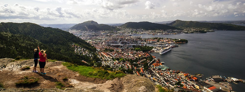 A few minutes walk from NHH, you will find the famous Stoltzekleiven - one of the most popular trails in Bergen. Photo: visitbergen.com