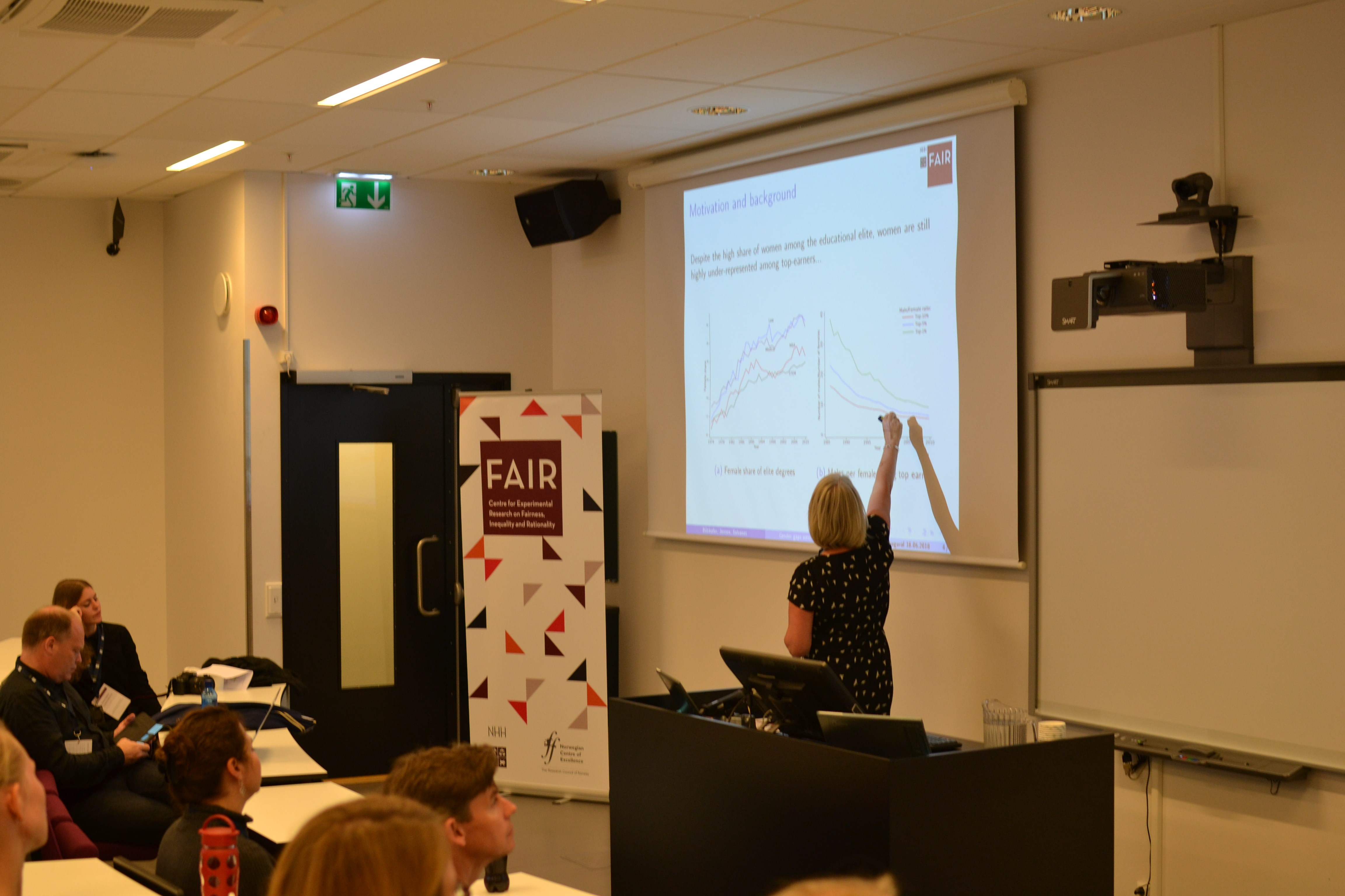 Associate Professor Sissel Jensen (NHH) presents at a parallel session at FAIR Inaugural Conference 18.6.2018