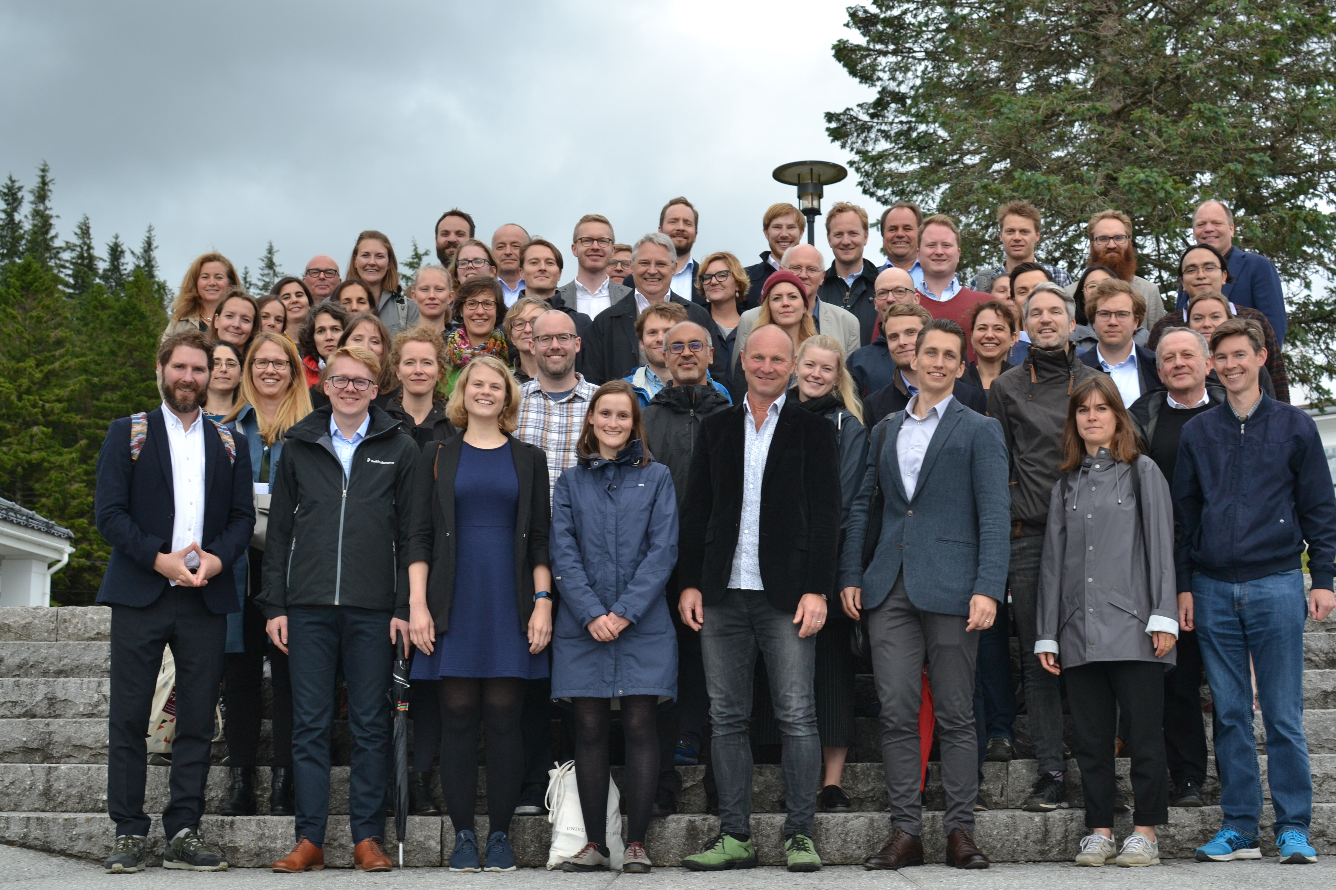 Participants at the FAIR Inaugural Conference on top of Mount Fløyen.