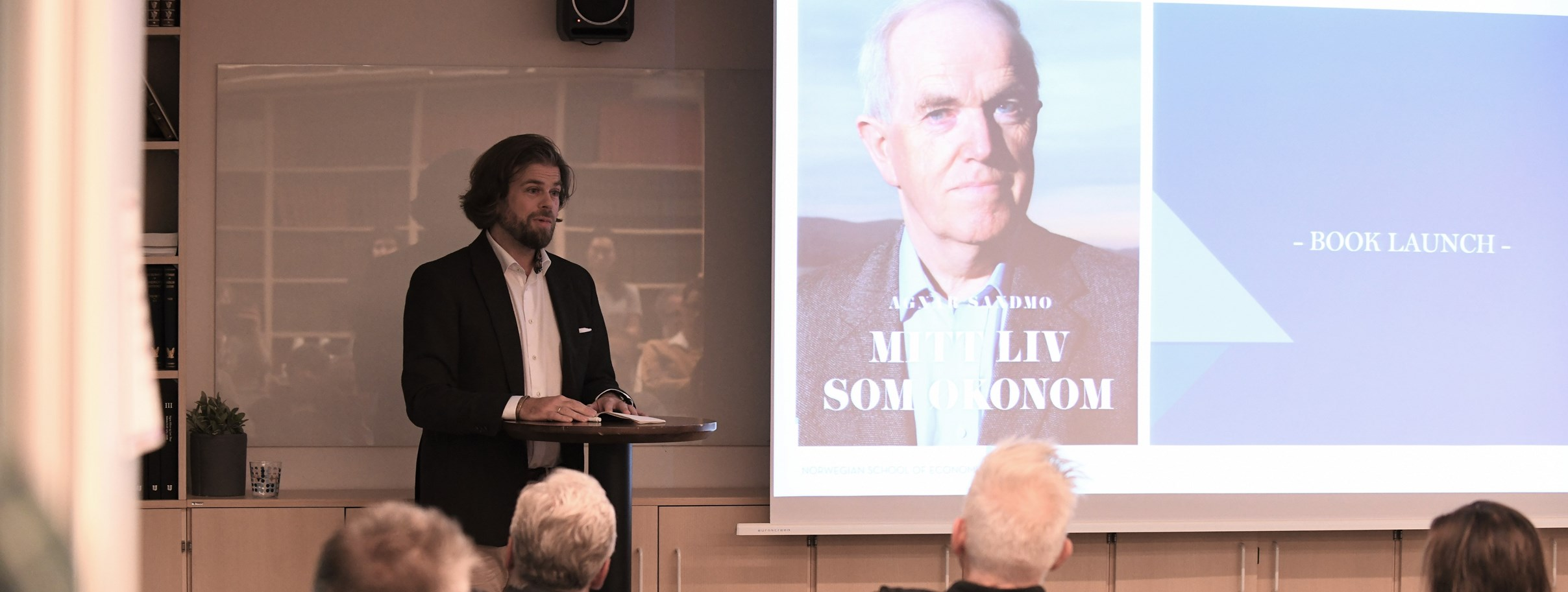 Sigurd Sandmo, booklaunch NHH 30. August 2019.