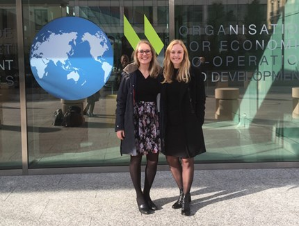 Marie L. Lerøy and Lena Nord are participating at the annual OECD Global Forum on Trade in Paris.