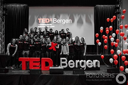 TedXBergen team 2016. Photo: Foto NHHS